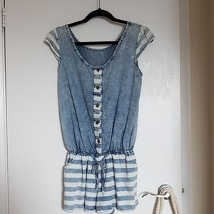 Cotton romper with pockets - adorable!